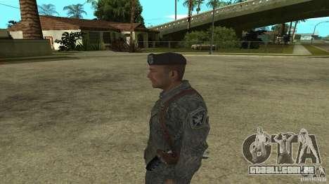 Shepard de CoD MW2 para GTA San Andreas segunda tela