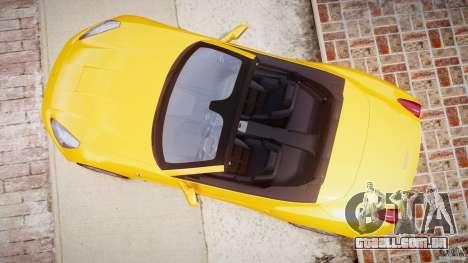 Ferrari California v1.0 para GTA 4 vista de volta