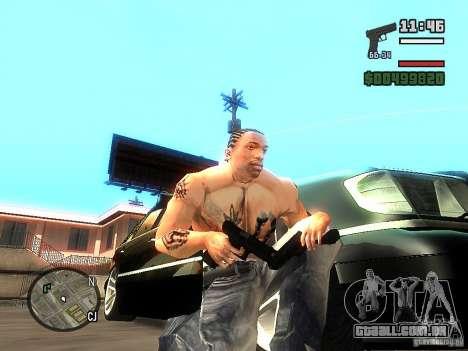 Carbon Glock 17 para GTA San Andreas segunda tela