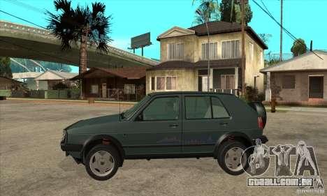 Volkswagen Golf Country MkII Syncro 4x4 1991 para GTA San Andreas esquerda vista