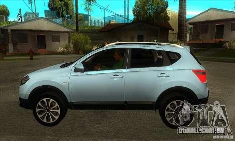 Nissan Qashqai 2011 para GTA San Andreas esquerda vista