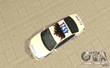 Patrulha da polícia de GTA 4 para GTA San Andreas vista direita