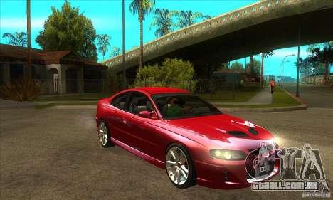 Holden Monaro CV8-R para GTA San Andreas vista traseira