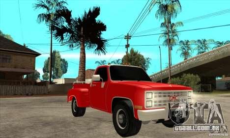 GMC 454 PICKUP para GTA San Andreas vista traseira