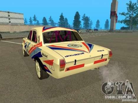 Volga GAZ 24-10 Rally para GTA San Andreas traseira esquerda vista