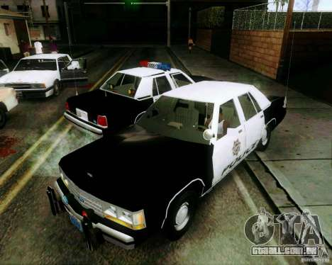 Ford Crown Victoria LTD 1991 LVMPD para GTA San Andreas vista superior
