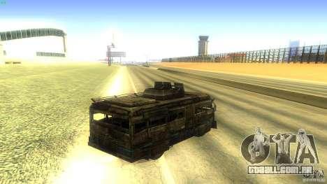 Frontline - MilBus para GTA San Andreas traseira esquerda vista