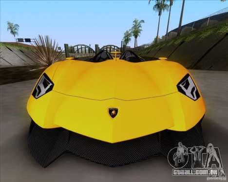 Lamborghini Aventador J TT Black Revel para GTA San Andreas traseira esquerda vista