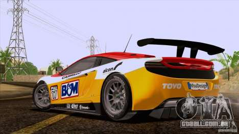 McLaren MP4-12C Speedhunters Edition para GTA San Andreas interior