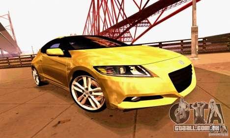 Honda CR-Z 2010 V2.0 para GTA San Andreas vista superior