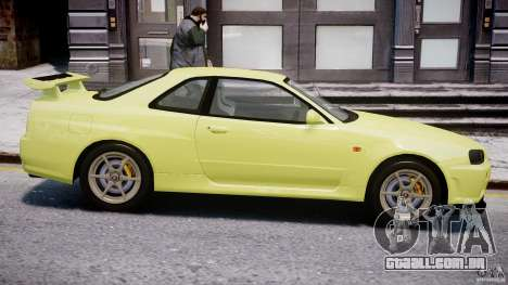 Nissan Skyline R-34 V-spec para GTA 4 vista inferior