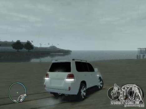 Toyota Land Cruiser 200 FINAL para GTA 4 vista de volta