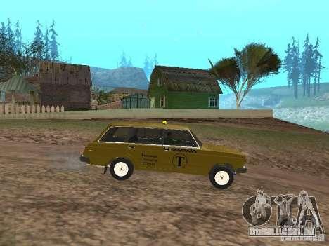 VAZ 2104 táxi para GTA San Andreas esquerda vista