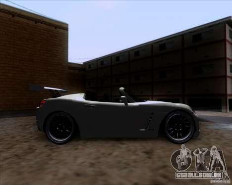 Saturn Sky Roadster para GTA San Andreas vista interior