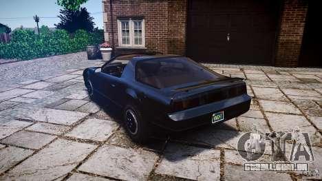 KITT Knight Rider para GTA 4 traseira esquerda vista