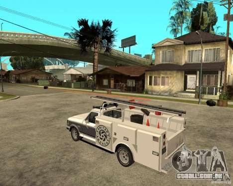 Ford F150 1992 Utility Van para GTA San Andreas esquerda vista