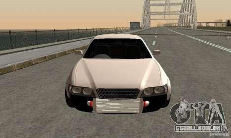 Toyoyta Chaser jzx100 para GTA San Andreas traseira esquerda vista