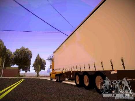 Mack Vision para GTA San Andreas traseira esquerda vista
