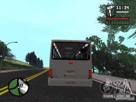 Busscar Urbanus SS Volvo B10M para GTA San Andreas vista direita