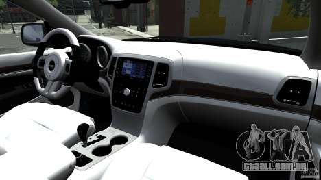 Jeep Grand Cherokee STR8 2012 para GTA 4 vista interior