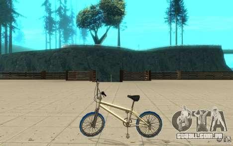 Zeros BMX BLUE tires para GTA San Andreas esquerda vista