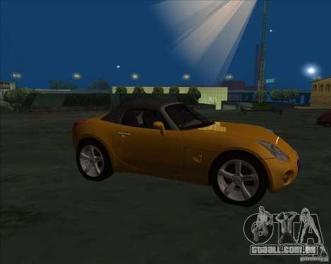 Pontiac Solstice para GTA San Andreas esquerda vista