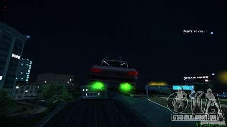 Novos efeitos 1.0 para GTA San Andreas por diante tela