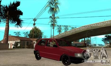 Fiat Uno Fire para GTA San Andreas vista traseira