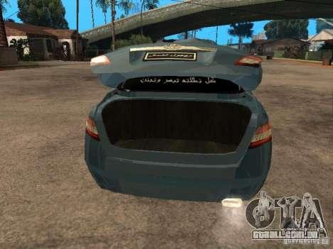 Toyota Camry 2009 para GTA San Andreas vista traseira