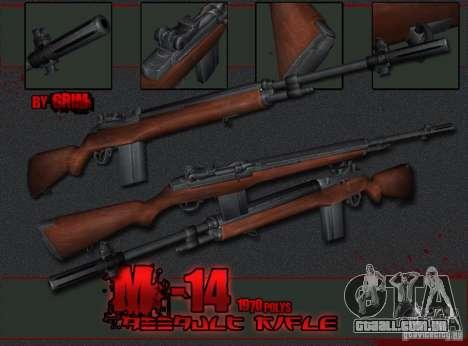 M14 para GTA San Andreas segunda tela