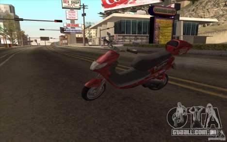 Suzuki Addres para GTA San Andreas vista traseira