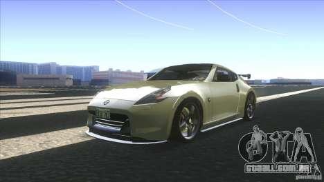 Nissan 370Z Drift 2009 V1.0 para GTA San Andreas traseira esquerda vista