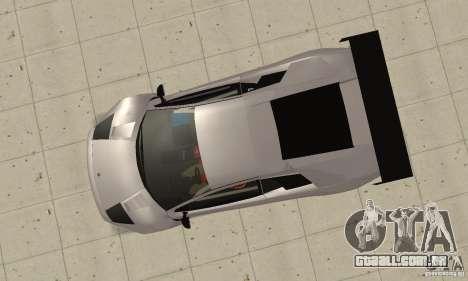 Lamborghini Murcielago R GT para GTA San Andreas vista direita