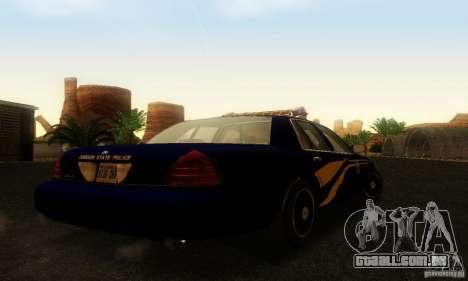 Ford Crown Victoria Orgeon Police para GTA San Andreas esquerda vista