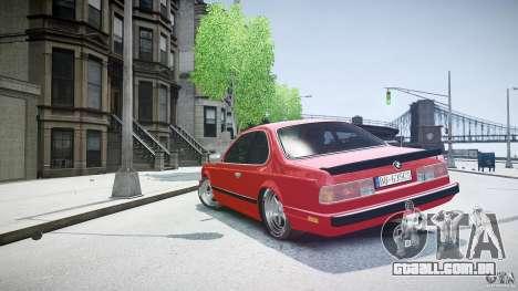 BMW M6 v1 1985 para GTA 4 vista lateral