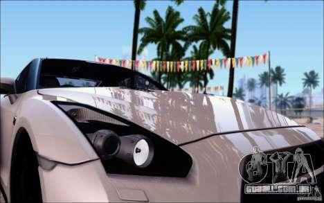 Nissan GTR 2011 Egoist (versão com sujeira) para GTA San Andreas vista superior