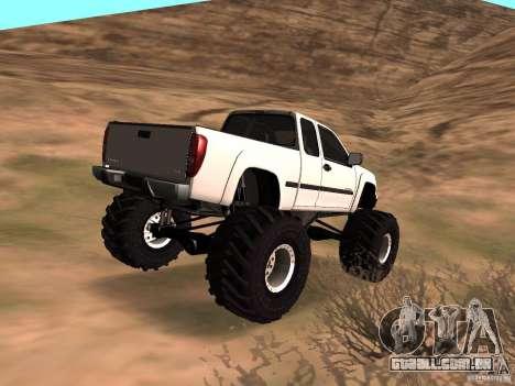 Chevrolet Colorado Monster para GTA San Andreas esquerda vista