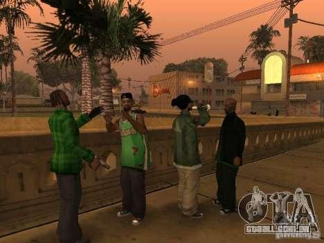Novas skins a Grove Street Gang para GTA San Andreas terceira tela