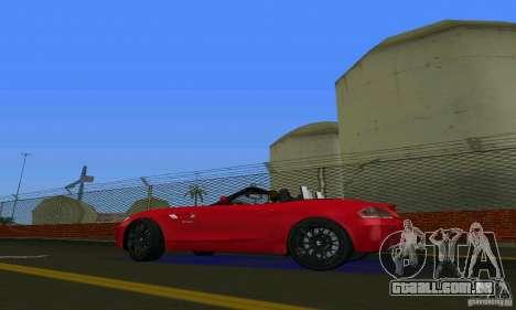 BMW Z4 V10 2011 para GTA Vice City vista direita