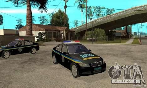 BMW 3 série DPS para GTA San Andreas vista traseira