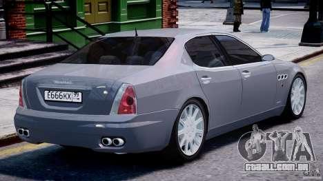 Maserati Quattroporte V para GTA 4 motor