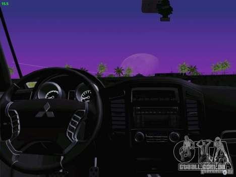 Mitsubishi Montero para GTA San Andreas vista interior