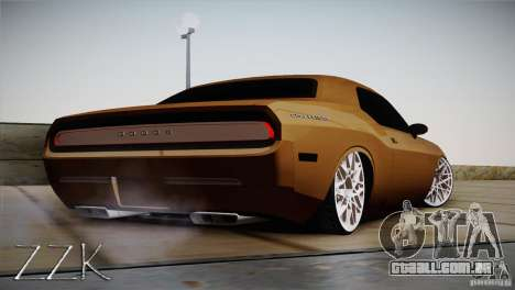 Dodge Challenger Socado Com Rotiform FIXA para GTA San Andreas vista direita