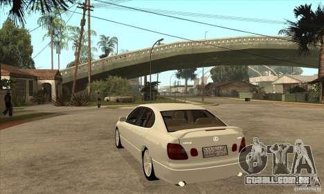 Lexus GS300 2003 para GTA San Andreas traseira esquerda vista