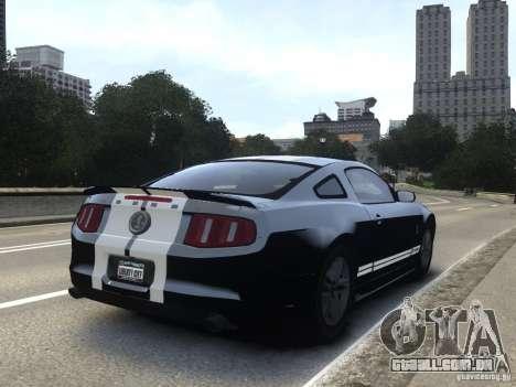 Ford Shelby GT500 2010 WIP para GTA 4 esquerda vista