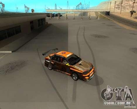 Subaru Impreza WRX Team Orange DRIFT SA-MP para GTA San Andreas esquerda vista