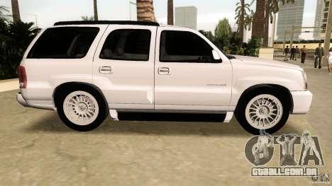 Cadillac Escalade para GTA Vice City deixou vista