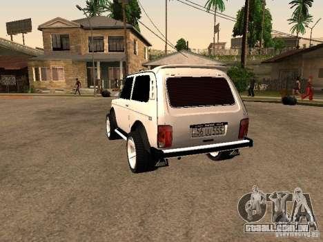 Armenian NIVA DORJAR 4 x 4 para GTA San Andreas traseira esquerda vista