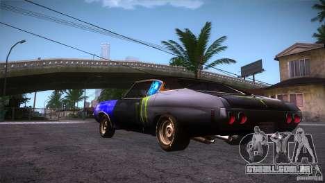 Chevrolet Chevelle SS DC para GTA San Andreas traseira esquerda vista