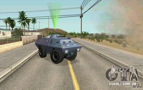 A guarda de BTR para GTA San Andreas